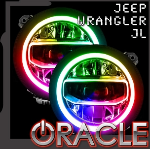 Jeep  JL Oracle Colorshift RGB+W Headlight DRL Upgrade