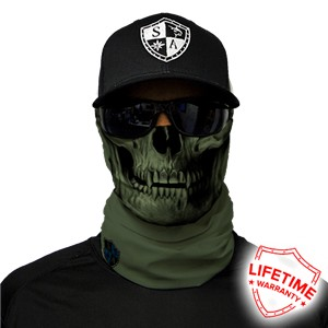 SA Tactical OD Skull Face Shield