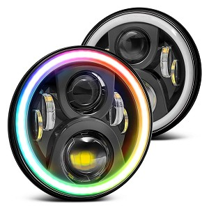 Dynamic Chasing RGB Halo Headlights