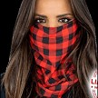 Red Plaid Face Shield