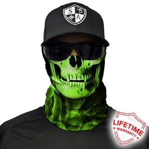 SA Neon Green Skull Face Shield